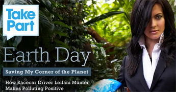 Leilani Munter Featured on MSN.com for Earth Day; Driver Set to Appear at Two Events This Weekend