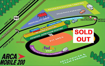ARCA Mobile 200 Infield Sold Out for March Race; Mobile, Madison, Both Salem Scheds Released