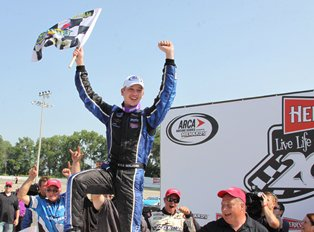 Benjamin becomes youngest winner in ARCA history in dominating fashion at Madison Int'l Speedway