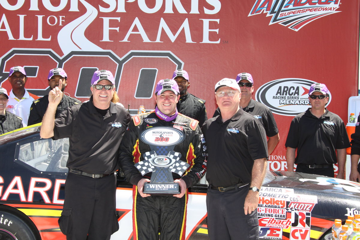 Hessert wins with wild Talladega finish