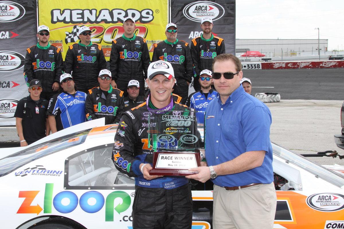 Boston takes Menards 200 at Toledo Speedway