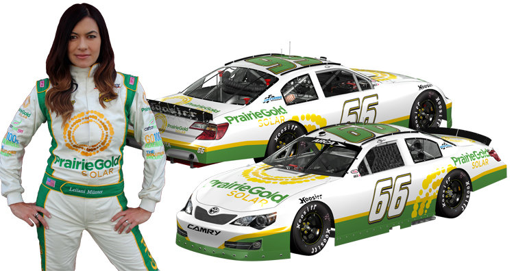 with electric ride to chicagoland speedway leilani m nter to become first arca driver to travel. Black Bedroom Furniture Sets. Home Design Ideas