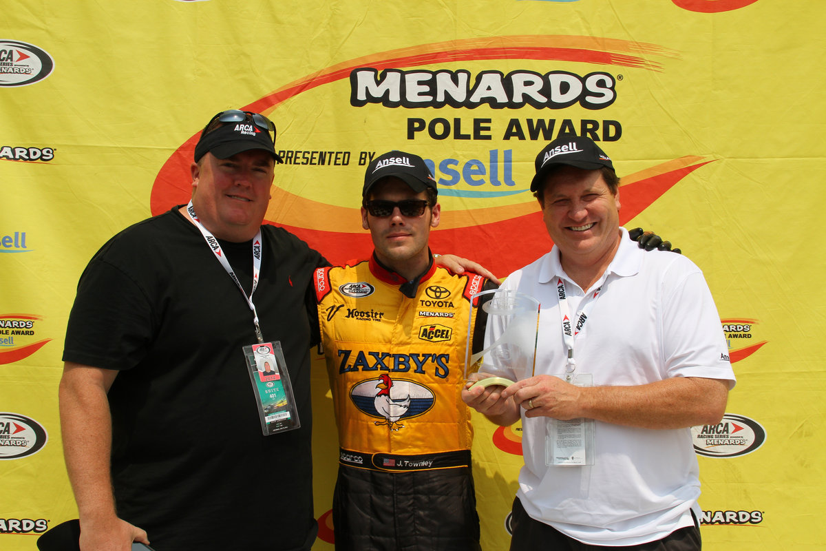 John Wes Townley wins pole at Chicagoland Speedway