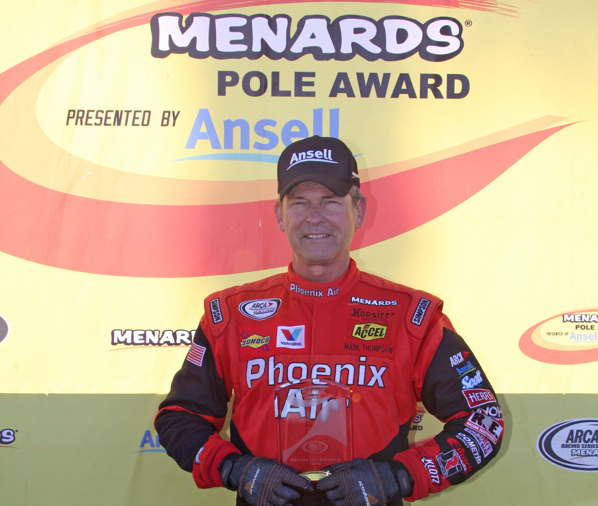 Thompson sets mark in winning Daytona pole