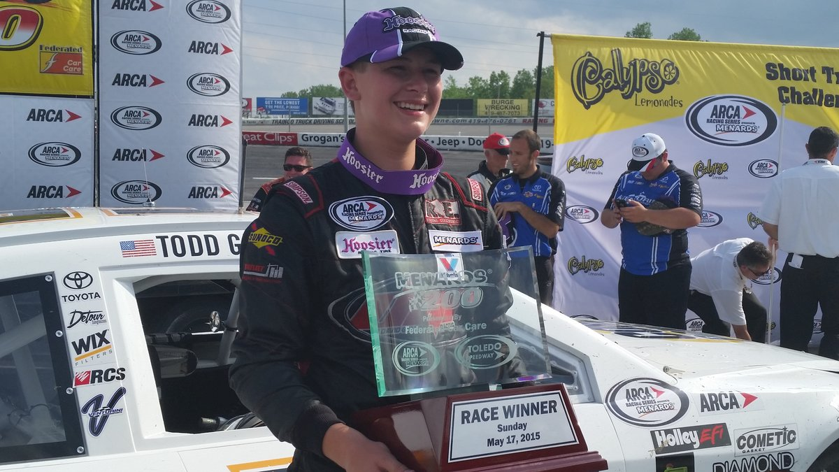 Now youngest winner in ARCA history, Gilliland lands in victory lane ...