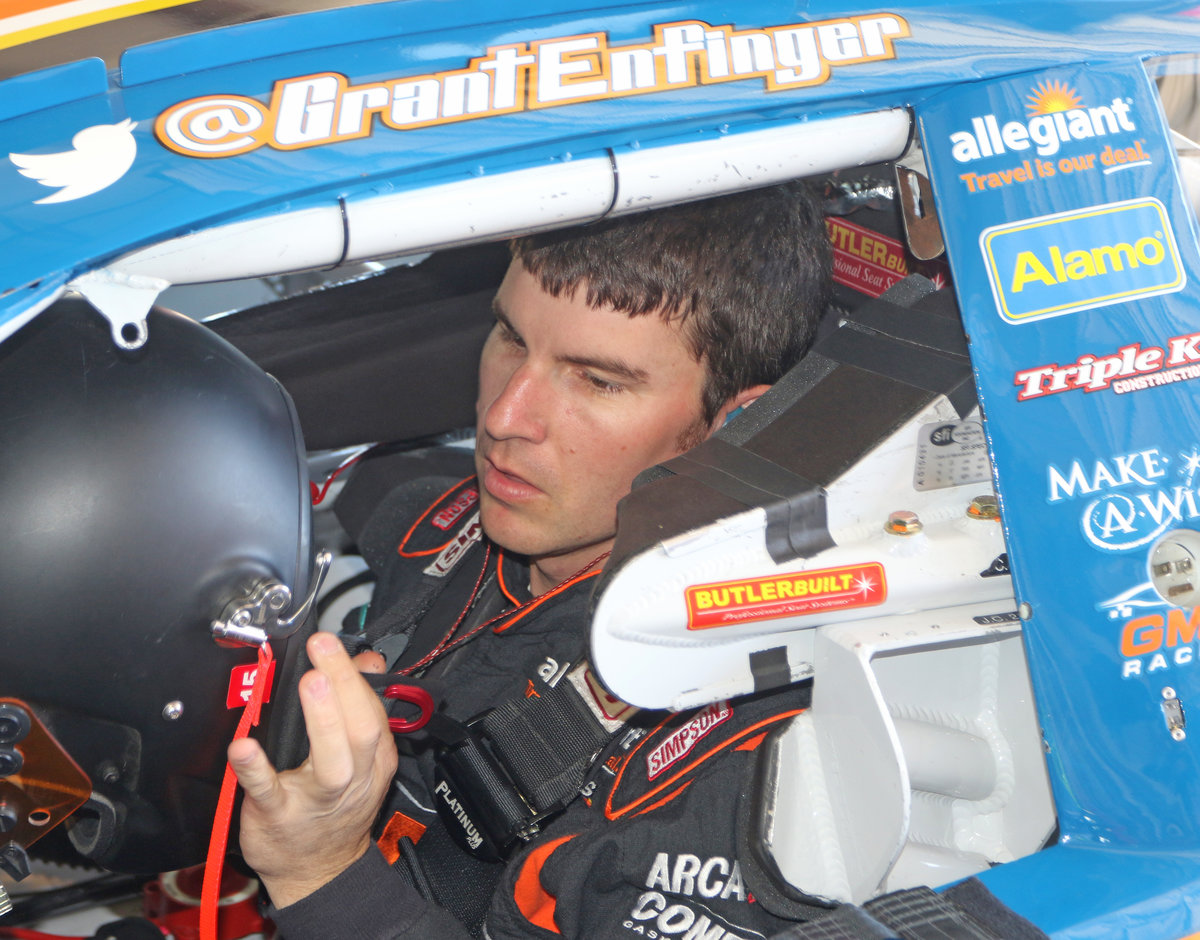Enfinger always thinking safety behind the wheel