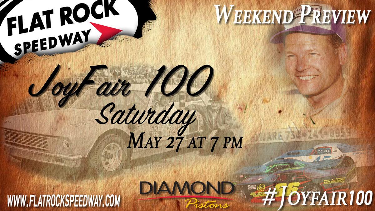 Joy Fair 100 kicks off local track Memorial Weekend action
