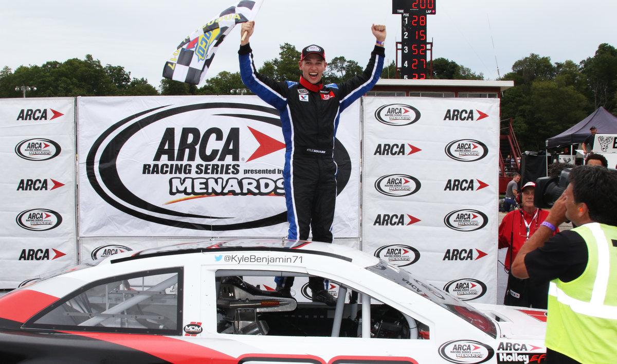 Kyle Benjamin takes Winchester ARCA 200 checkers
