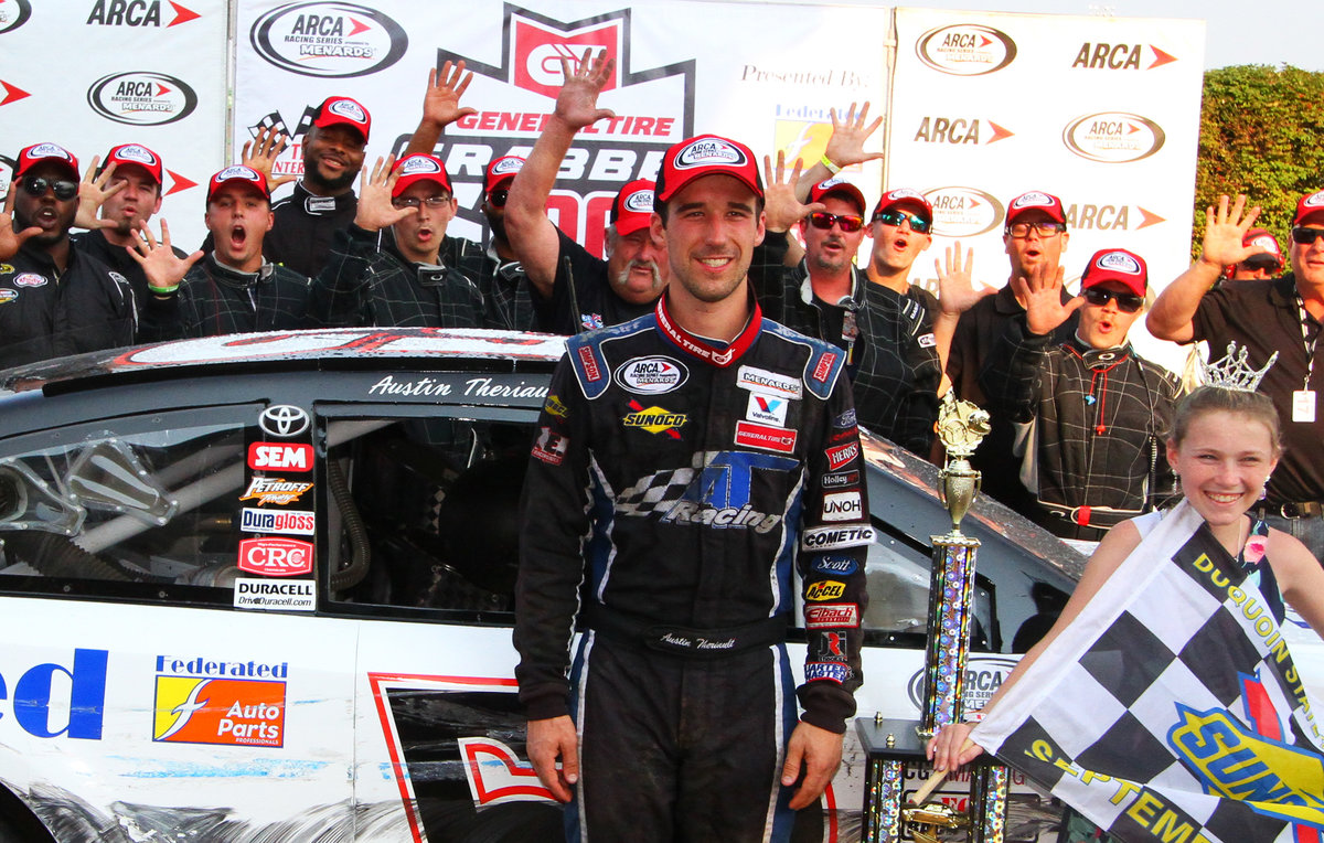 Theriault takes another ARCA thriller; conquers DuQuoin's Magic Mile