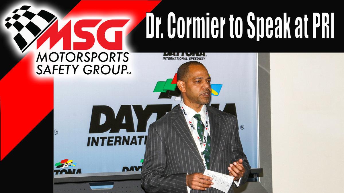 Dr. Cormier to speak at PRI
