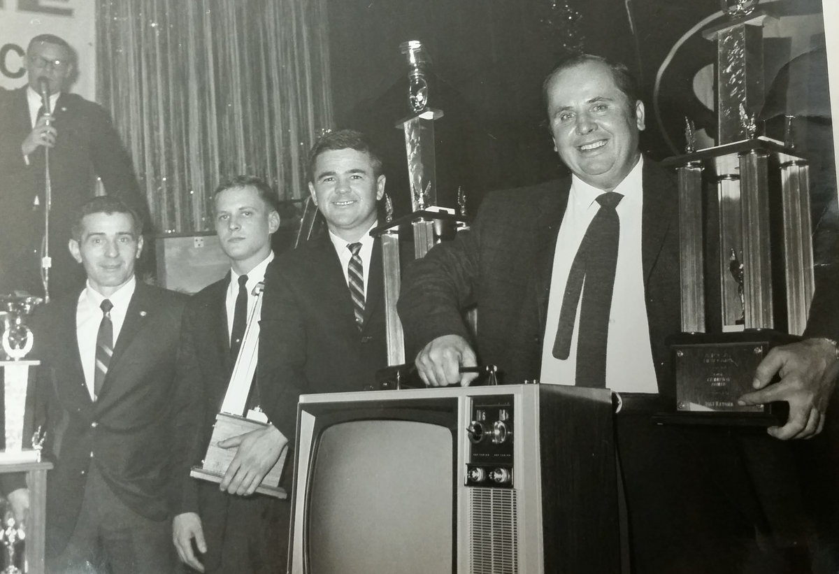 """Don't touch that dial""...Championship hardware includes TV for Katona in '67"