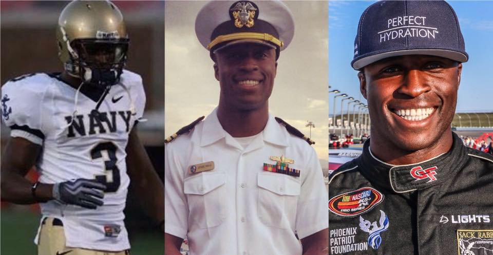 "Navy Officer, Midshipman, rookie Jesse Iwuji preps for Daytona debut with a ""Patriot"""