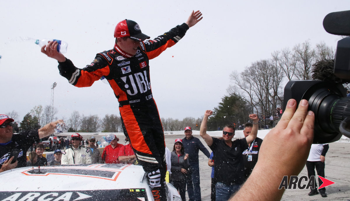 Thriller at Salem...Eckes holds off Smith for first ARCA win