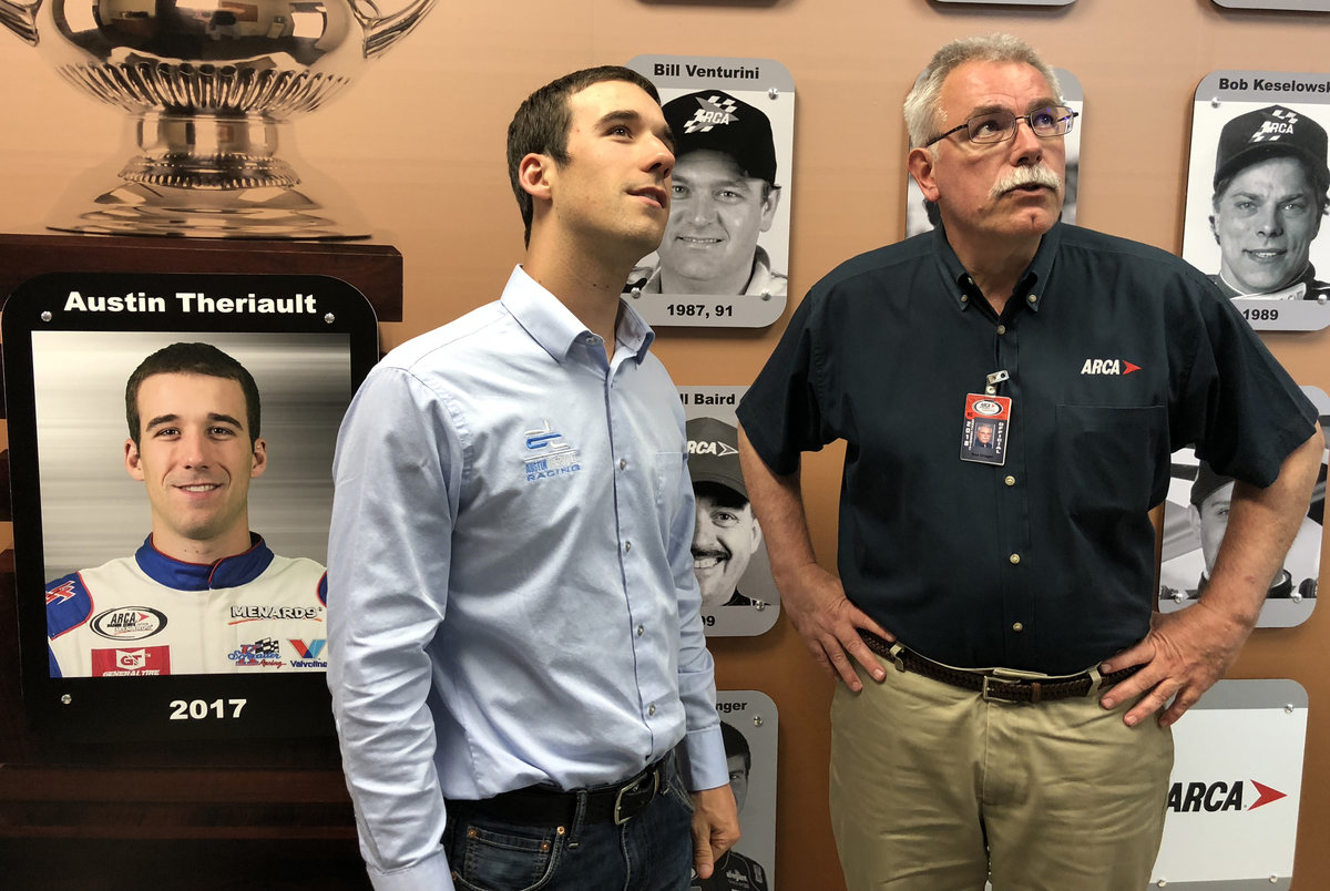 ARCA champ Austin Theriault joins Wall of Fame at Talladega