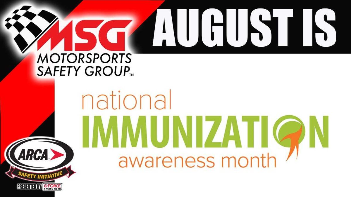 Motorsports Safety Group Reminds August is National Immunization Awareness Month