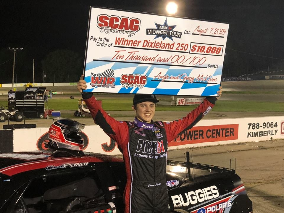 Chase Purdy wins ARCA Midwest Tour Dixieland 250