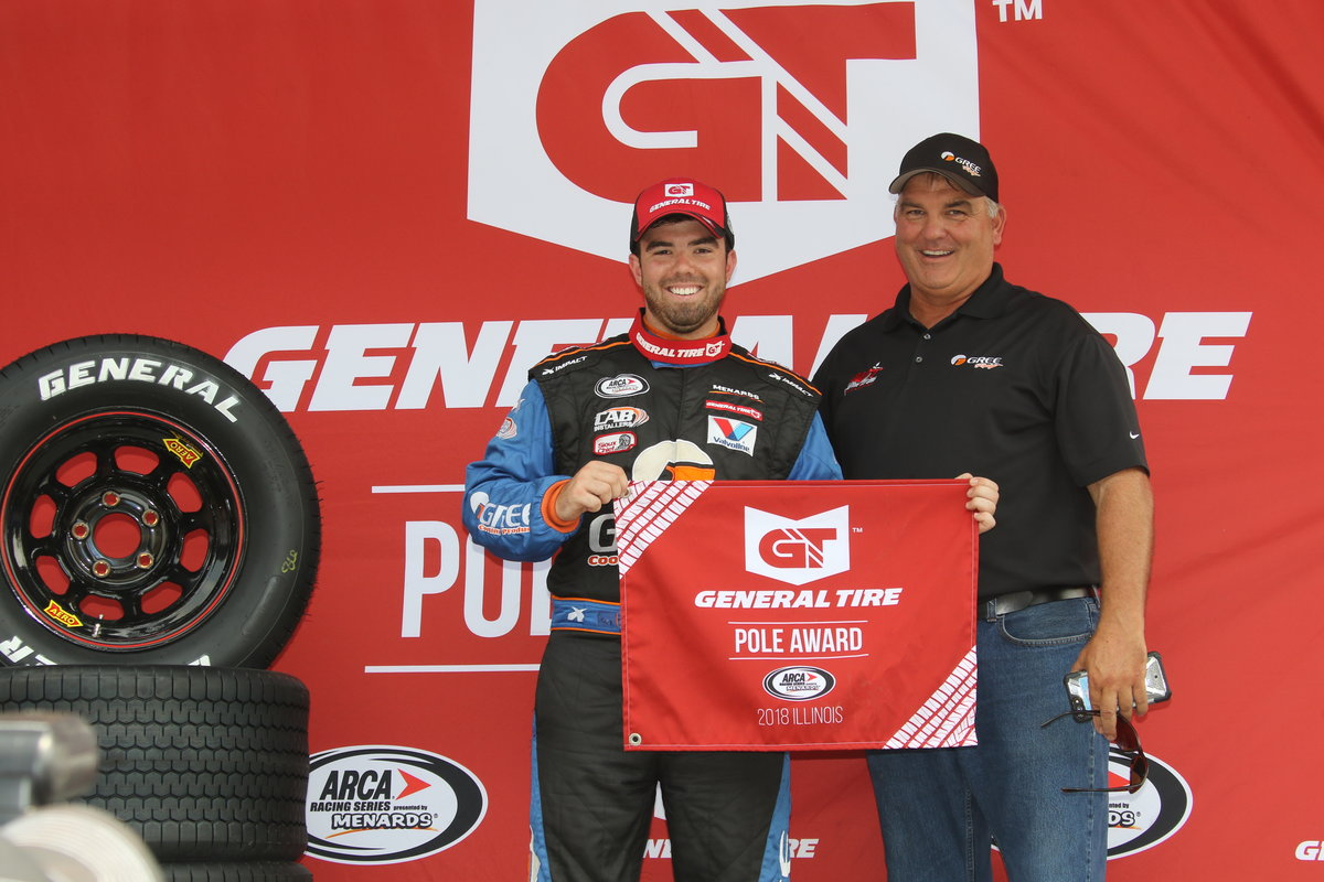 Dean Wins Second Consecutive ARCA General Tire Pole Award at Springfield