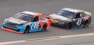 #43 chevy and #46 ford