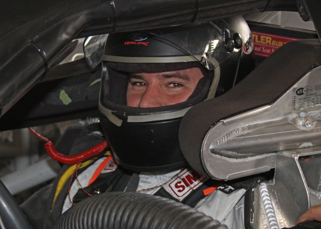 Sean Corr in car at Daytona test 2014