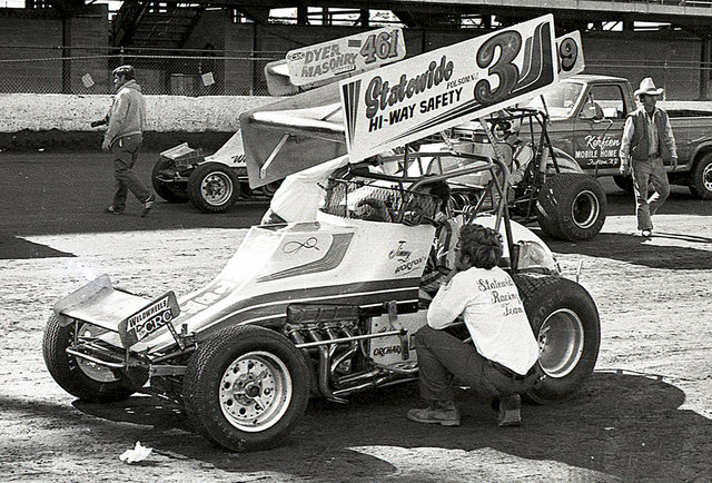 Jimmy Horton in Sprint Car