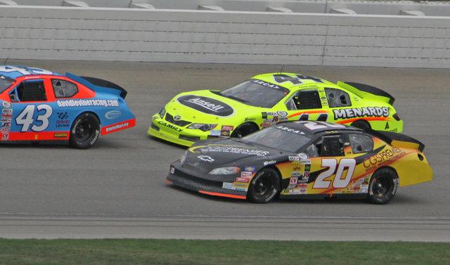 Tom Berte race action at Kansas Speedway 2013