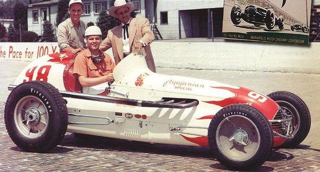 Troy Ruttman with JC Agajanian 98 Indy Car
