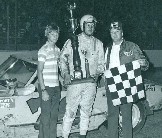 Joe Ruttman with Trophy
