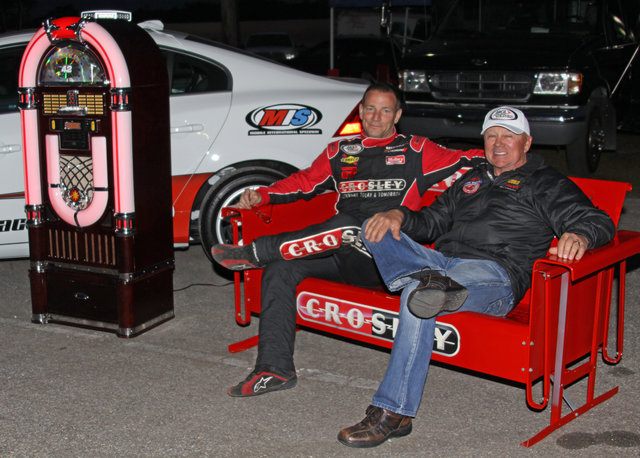 Bo LeMastus and Geoff Bodine and Crosley jukebox