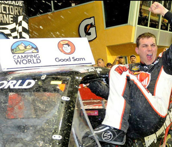 Cale Gale in Victory Lane at Homestead-Miami Speedway, NASCAR Camping World Truck Series