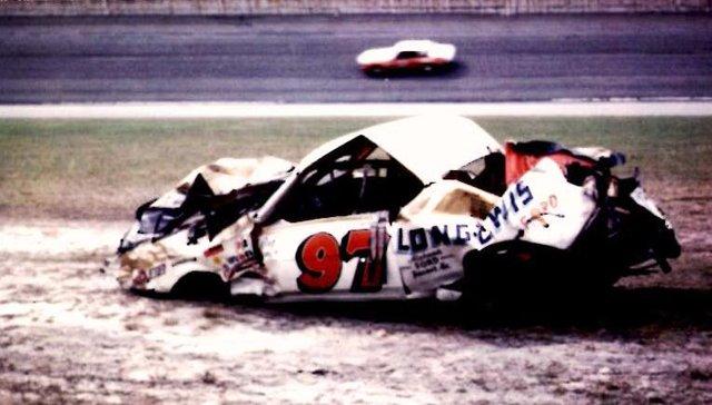 Red Farmer wreck Daytona