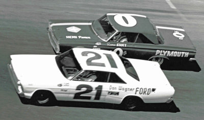 Jack Bowsher 21 adn Ramo Stott 0 at Daytona in 1966