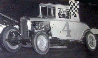 Jack Bowsher No. 4 Sedan checkered flag