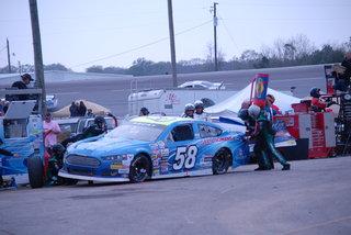 Michael Lira #58 pit action