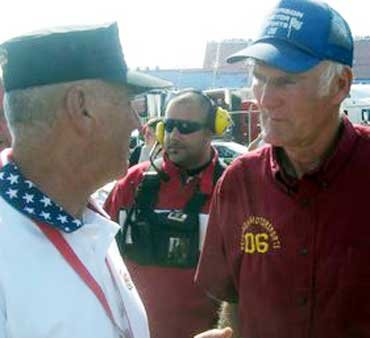 Wayne Peterson with R. Lee Ermey