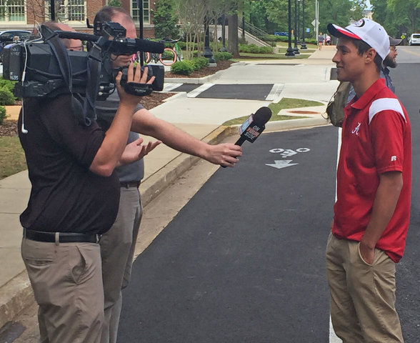Tyler Audie appearance at University of Alabama