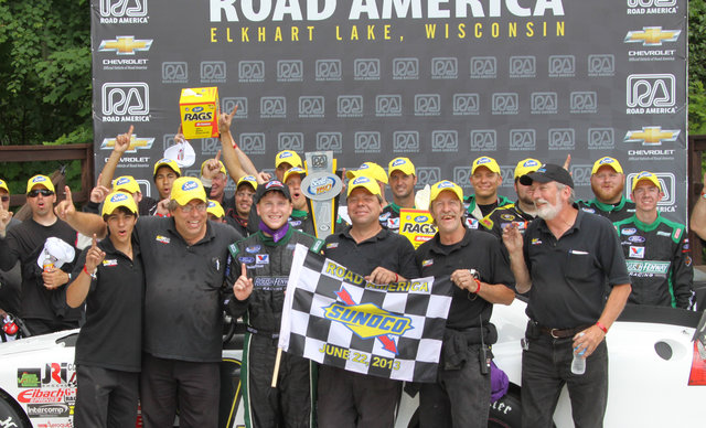 Roulo Brothers Victory Lane with Chris Buescher at Road America