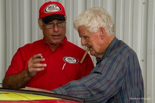 Tony Ortega and James Hylton at track