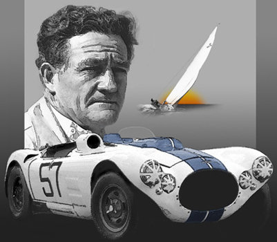 Briggs Cunningham II with car & yacht
