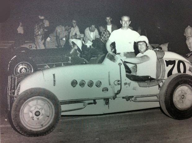 Bill Kimmel, Sr. in sprint car