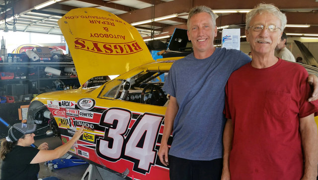 Mike and Darrell Basham post with 34 car