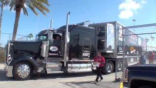 Haulers in at Daytona