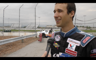 Theriault Takes First laps with Ken Shrader at Toledo Speedway