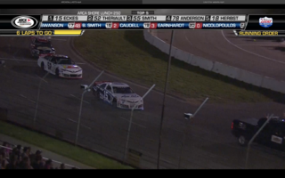 Final Six Laps in ELKO Thriller of the Shore Lunch 250