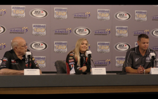 Natalie Decker full press conference from Kansas Speedway