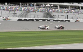 On track activity for ARCA test in Daytona