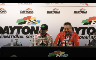 Michael Self Press Conference After Daytona Finish