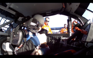 On board with Riley Herbst at Daytona