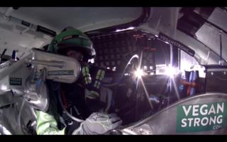 On board with Leilani Munter at Daytona