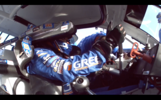 On board with Gus Dean at Daytona