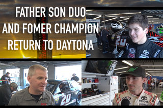 A Father Son Duo, And Former Champion Reminisce On Daytona Memories